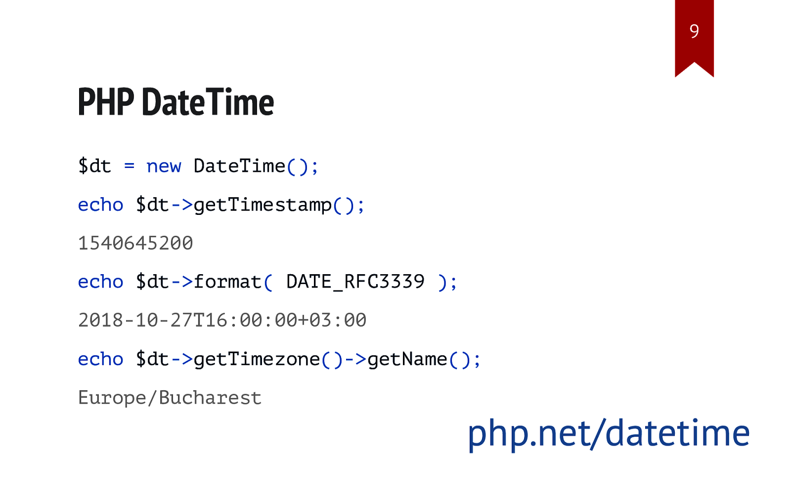 Date to datetime php