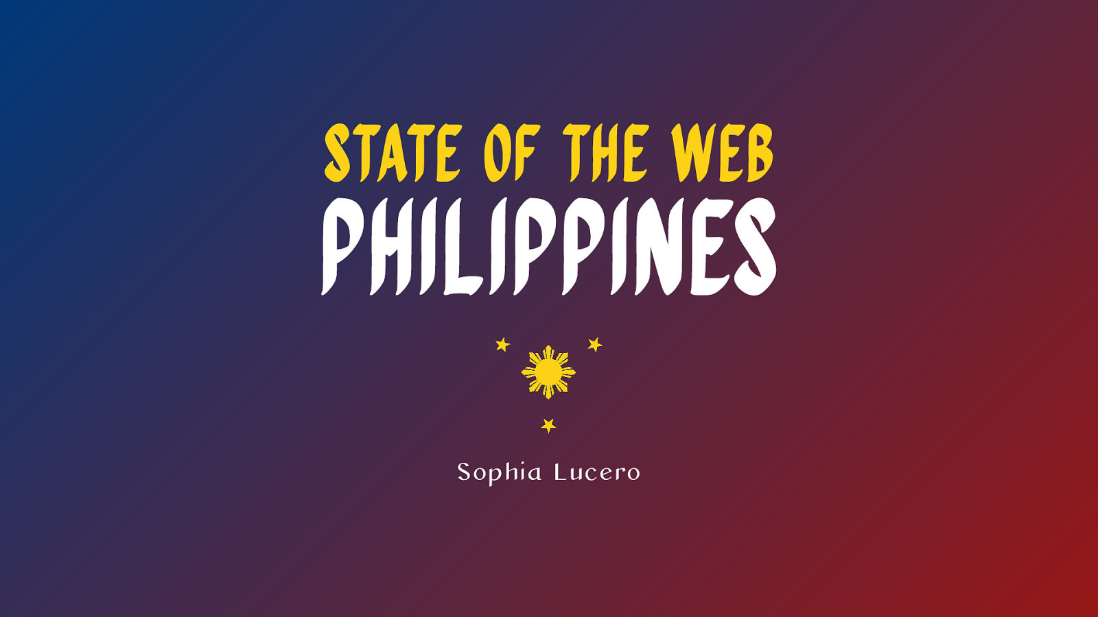 Thumbnail of State of the Web Philippines slides.