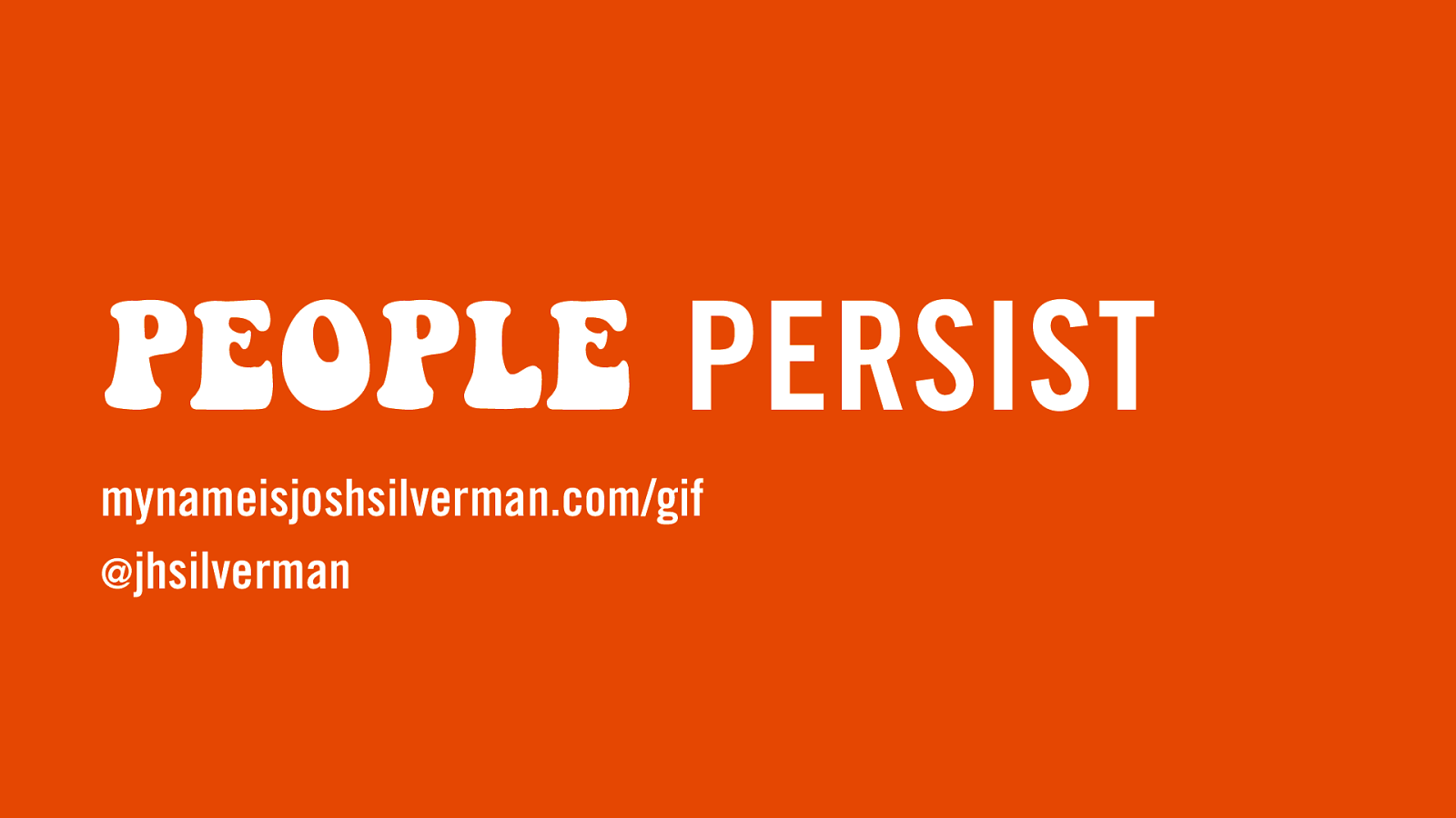 People Persist