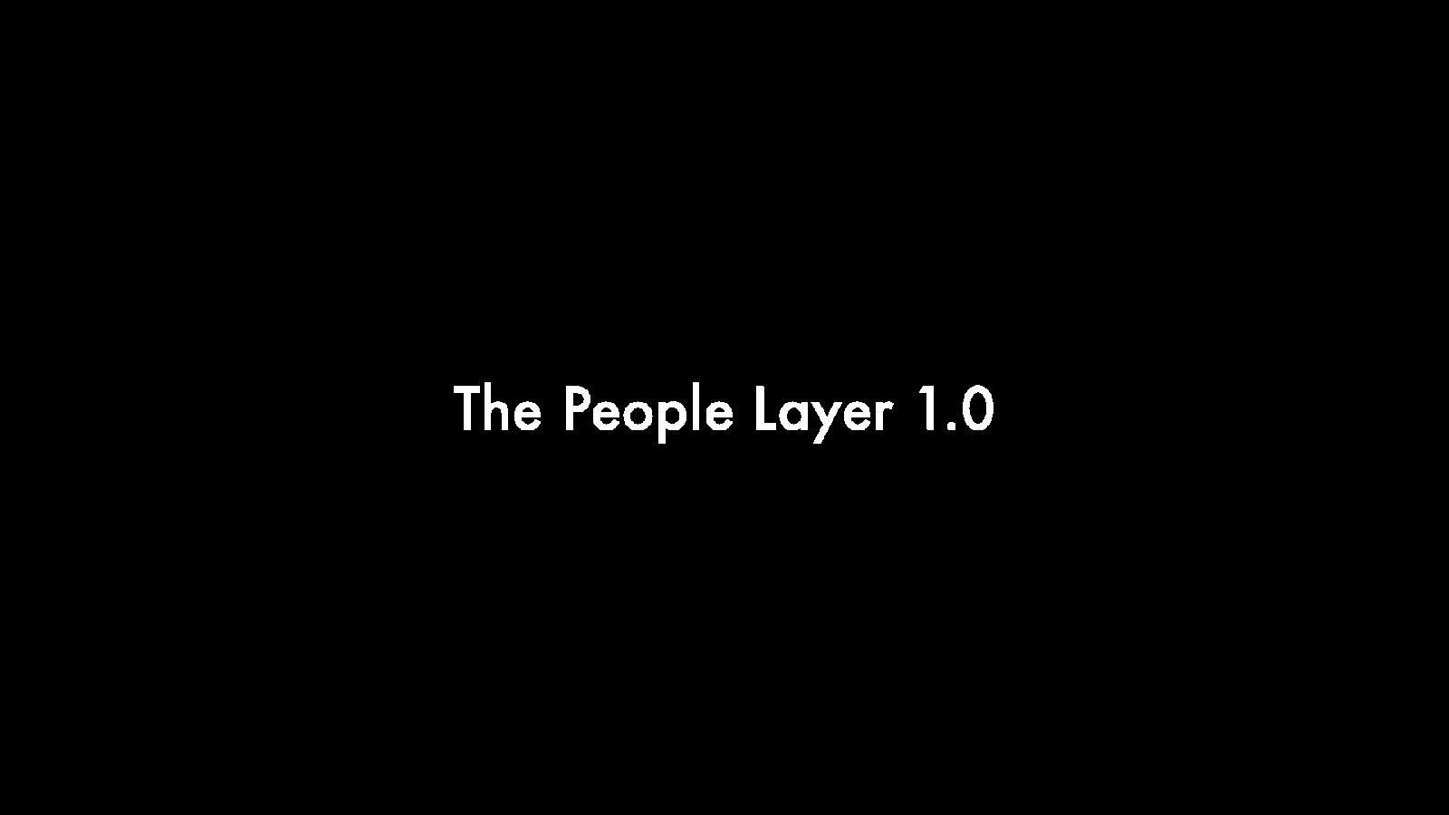 The People Layer 1.0