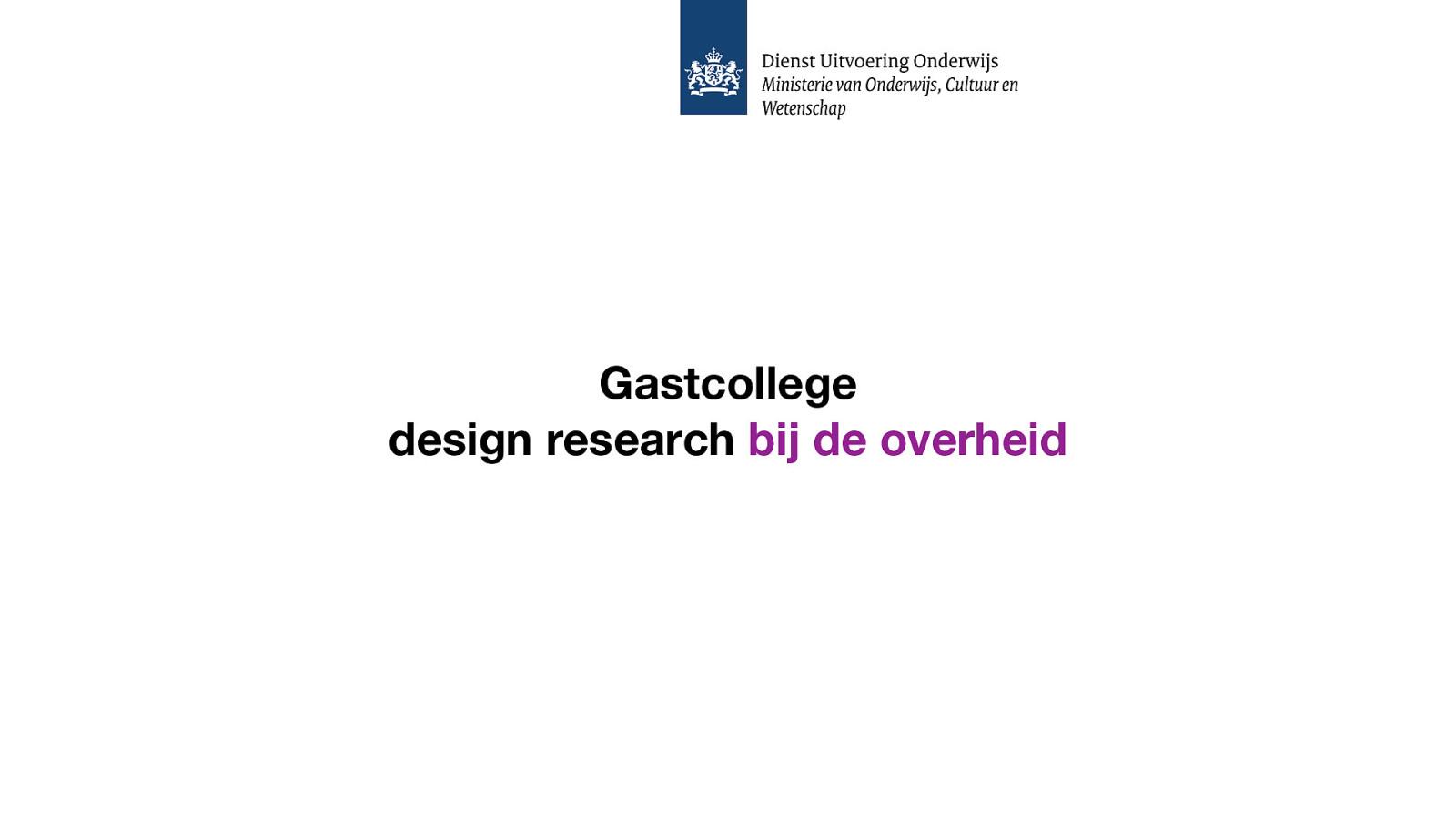 Design research bij DUO