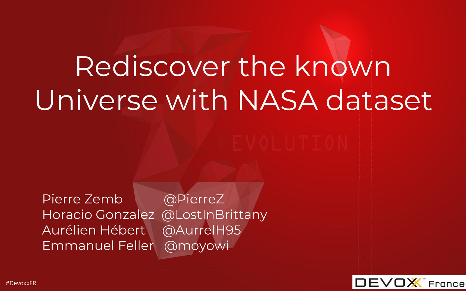 Rediscover the known Universe with NASA dataset