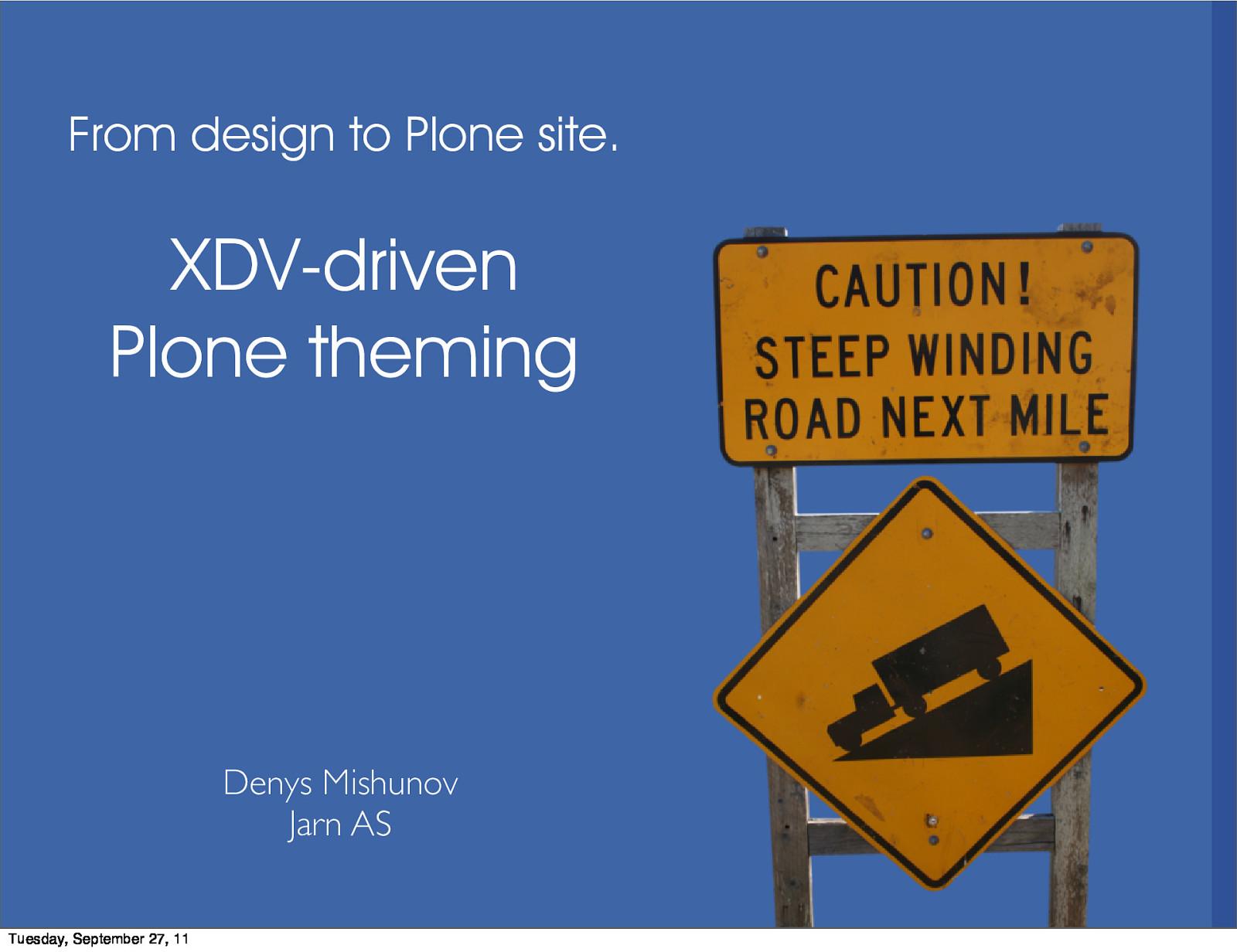 XDV-driven Plone theming