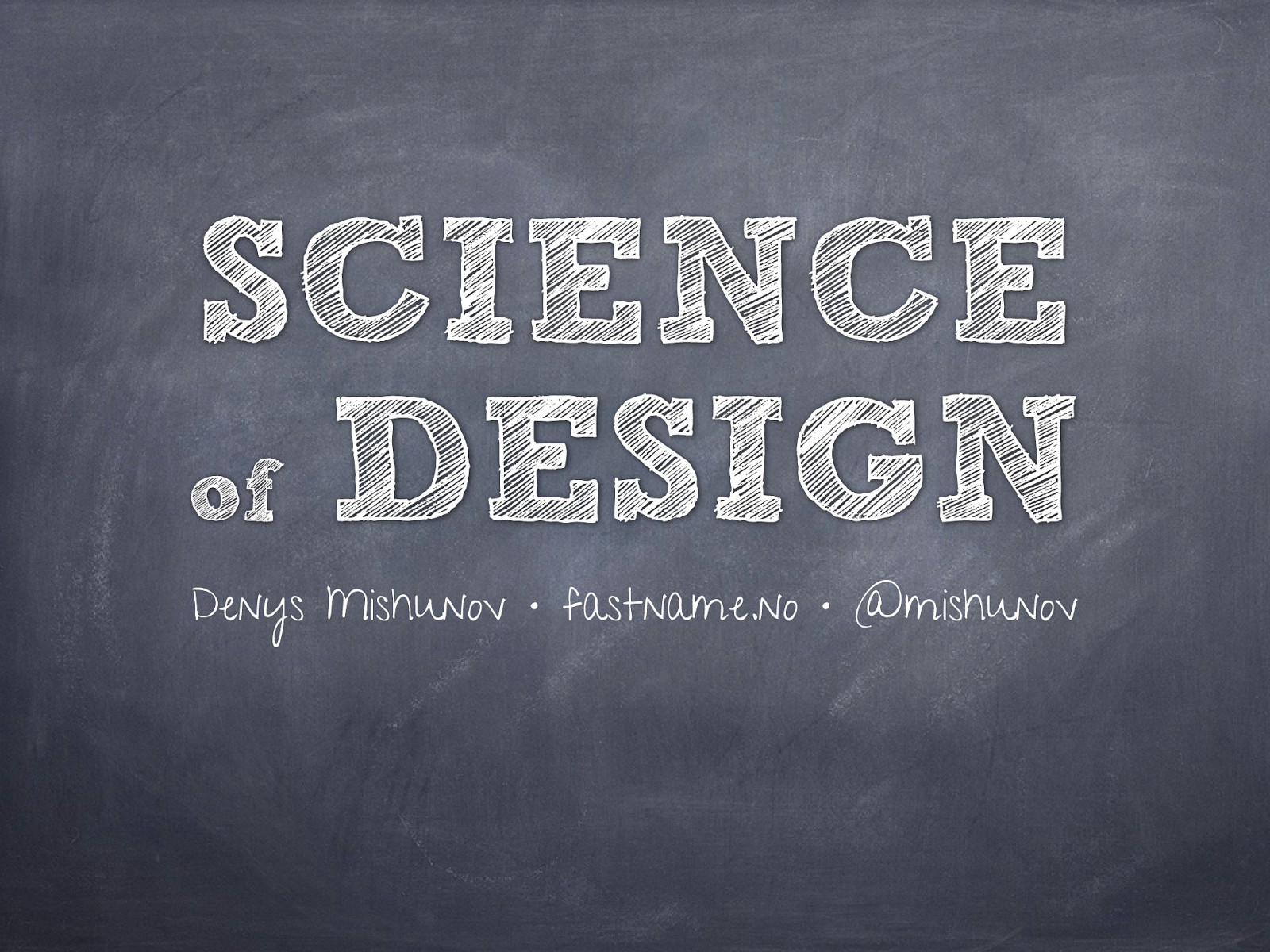 Science of Design