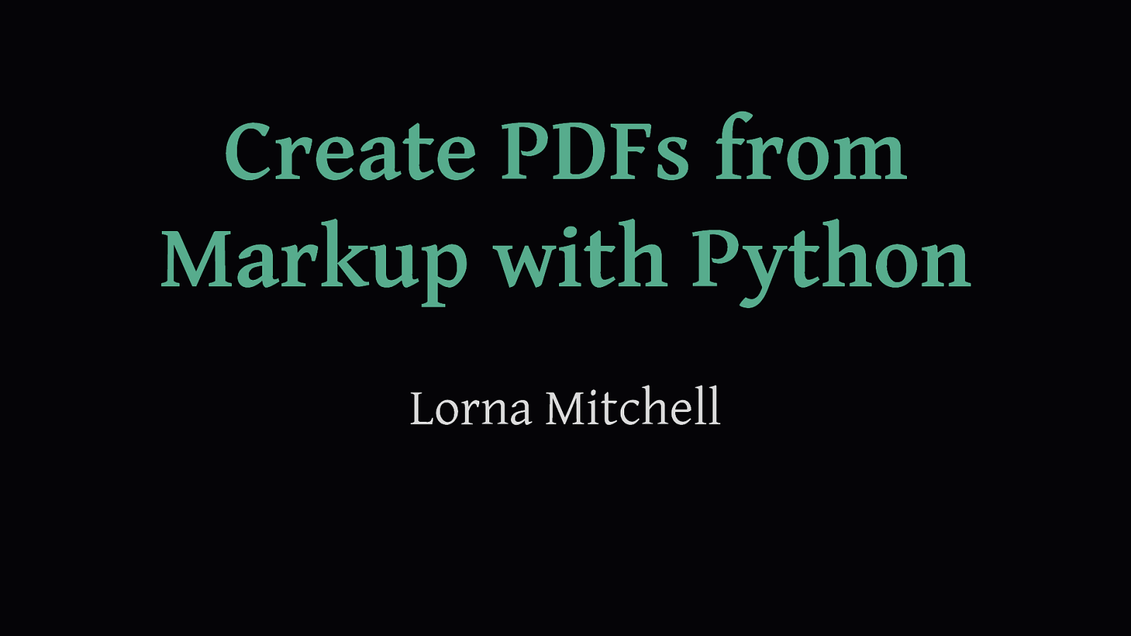 Text Markup to PDF with Python