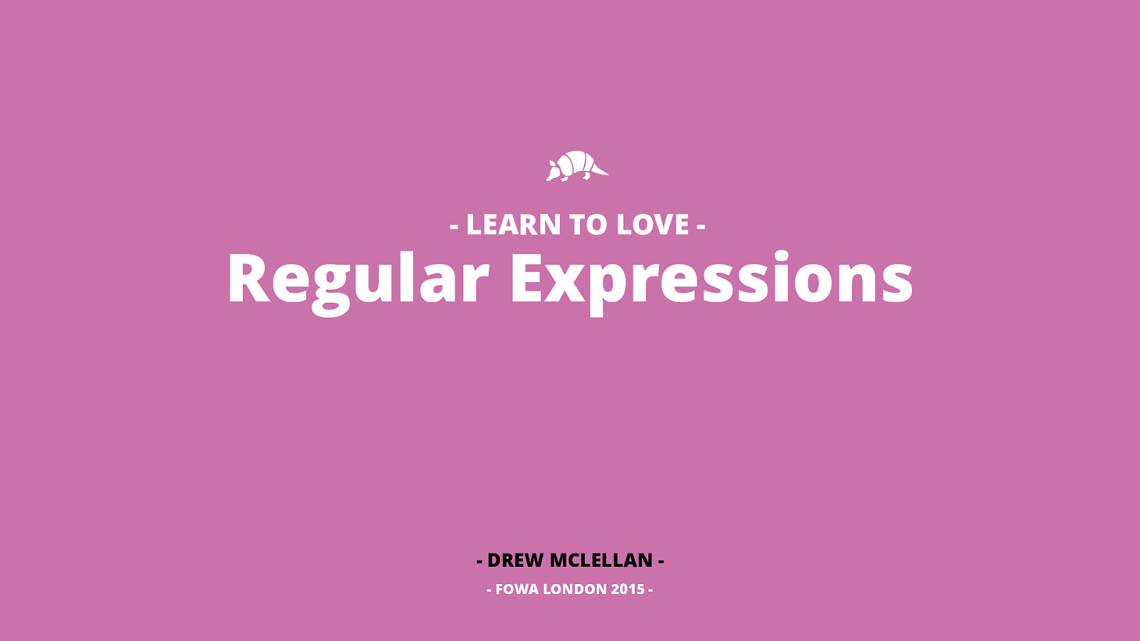 Learn to Love Regular Expressions
