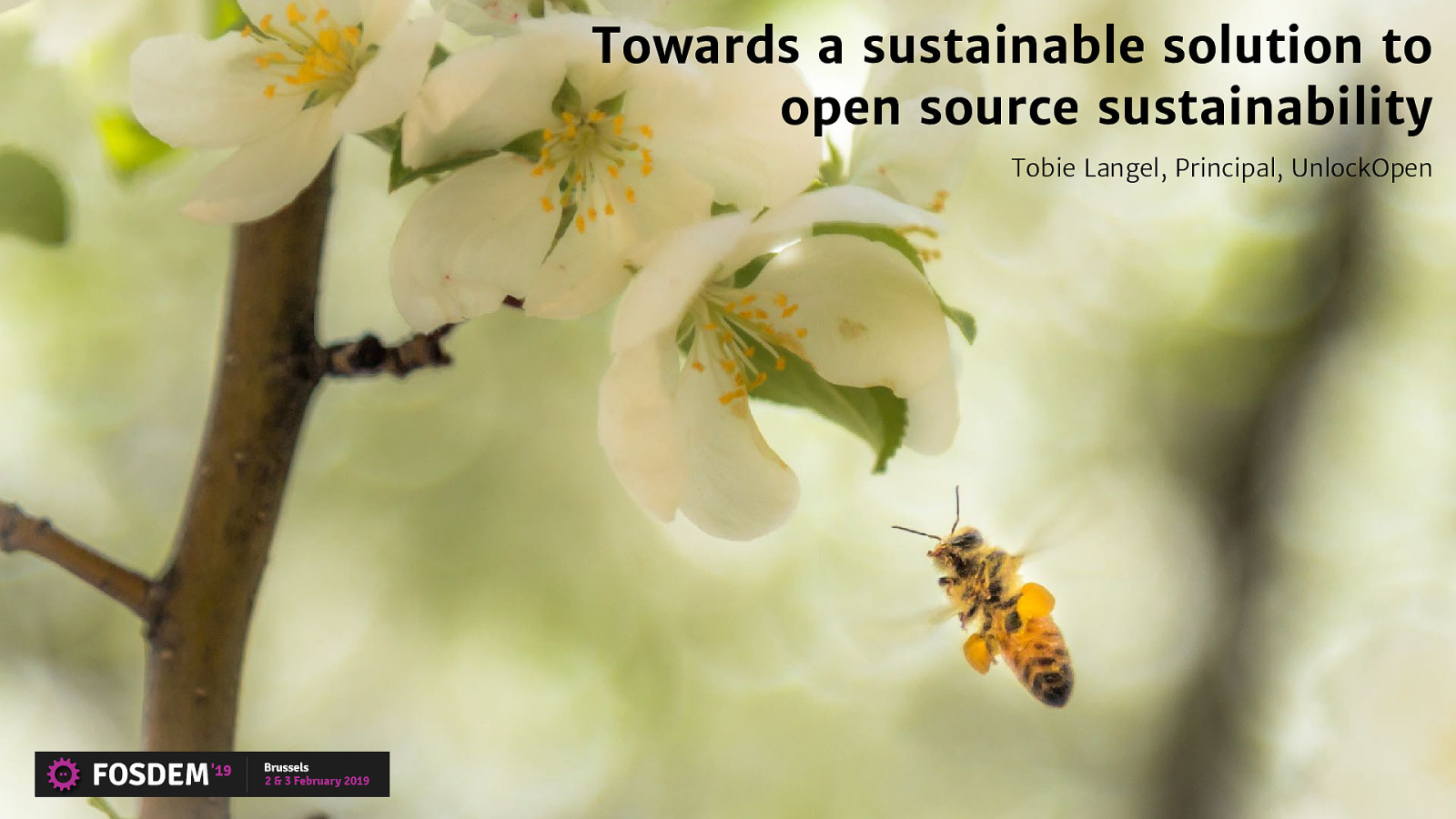 Towards a sustainable solution to open source sustainability by Tobie Langel