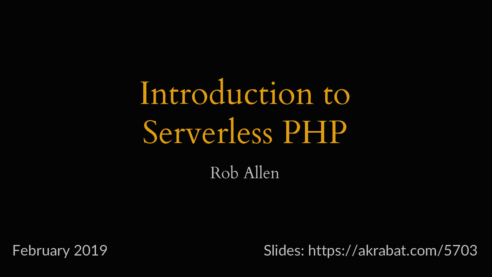 Introduction to Serverless PHP