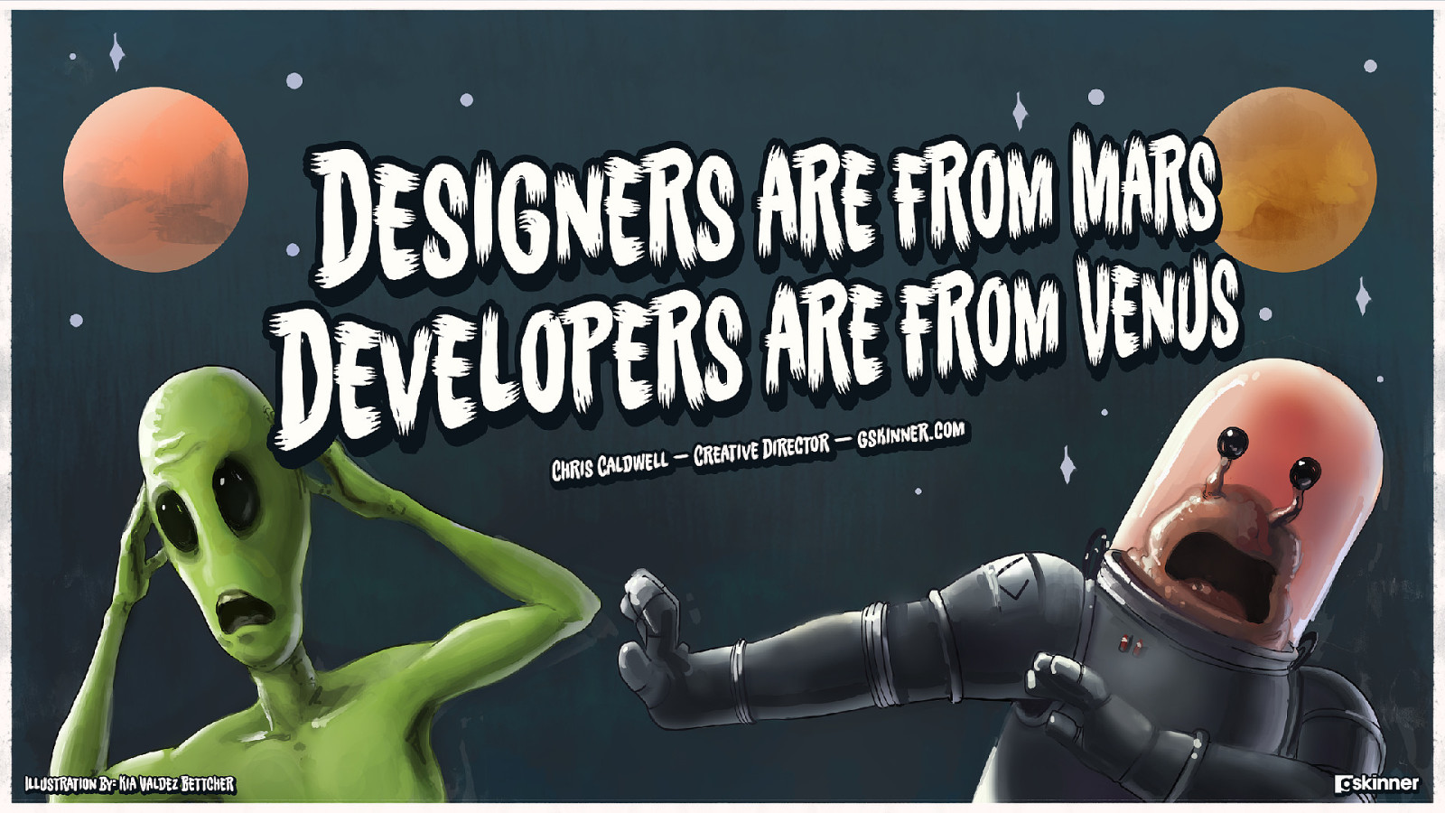Designers are from Mars, Developers are from Venus