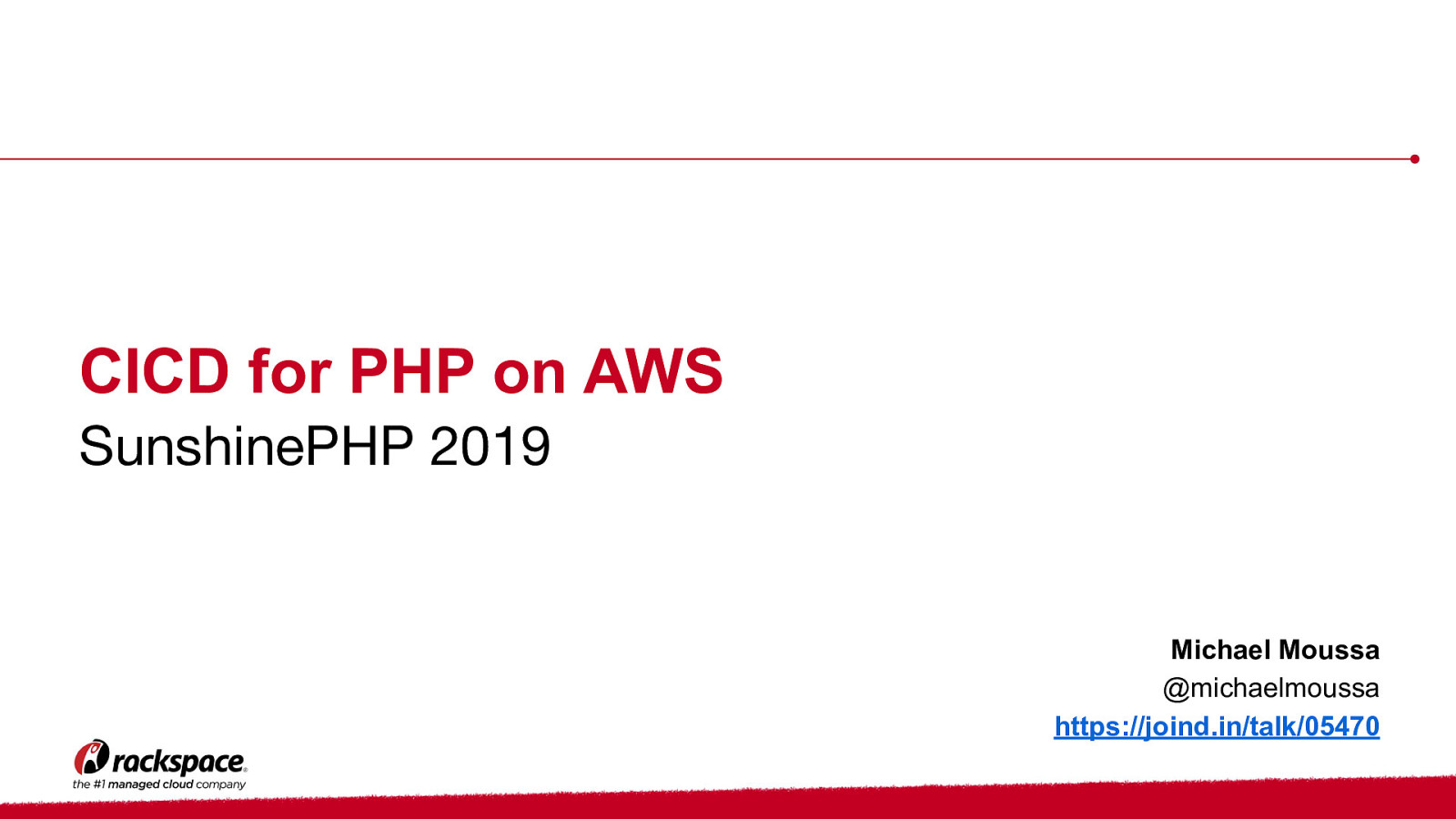 CICD for PHP on AWS by Michael Moussa