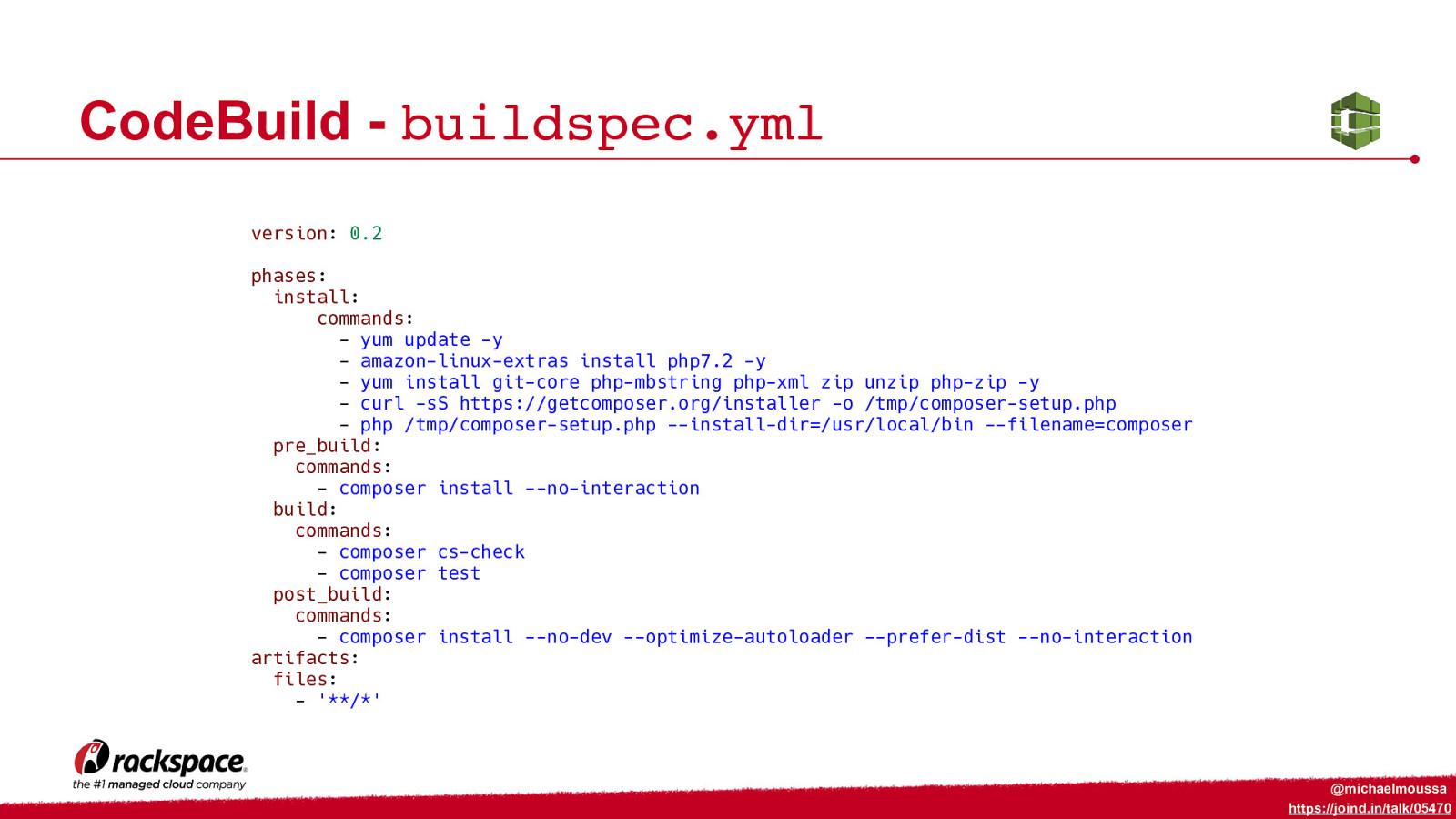 CICD for PHP on AWS