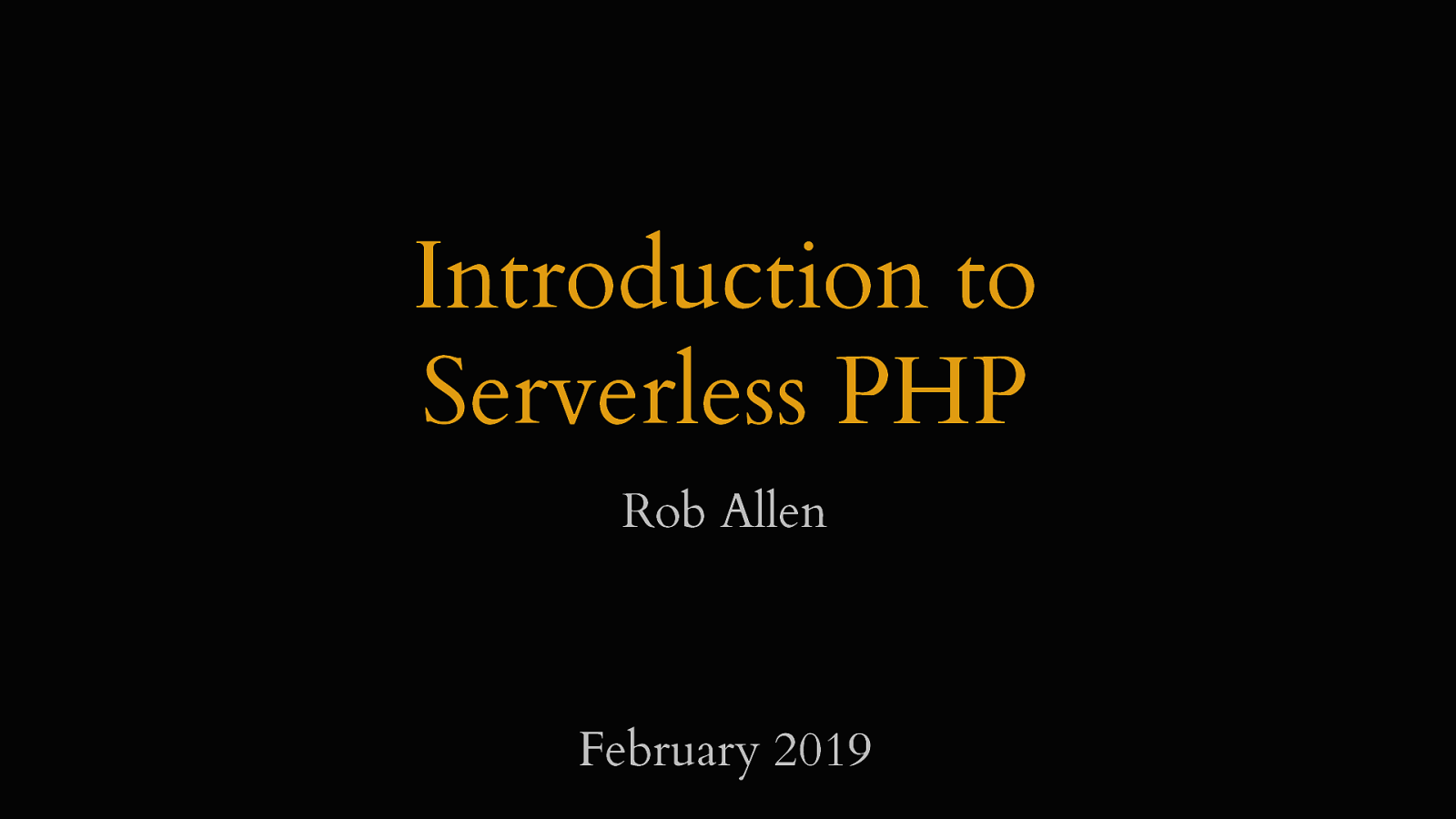 Introduction to Serverless PHP by Rob Allen