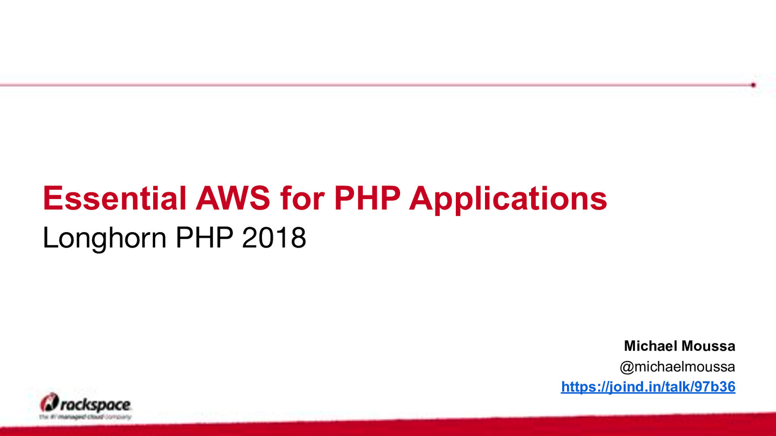 Essential AWS for PHP Applications