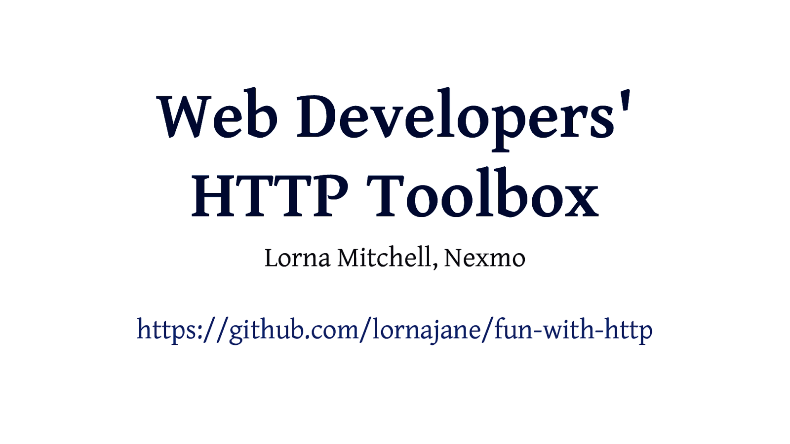 Web Developer's HTTP Toolbox