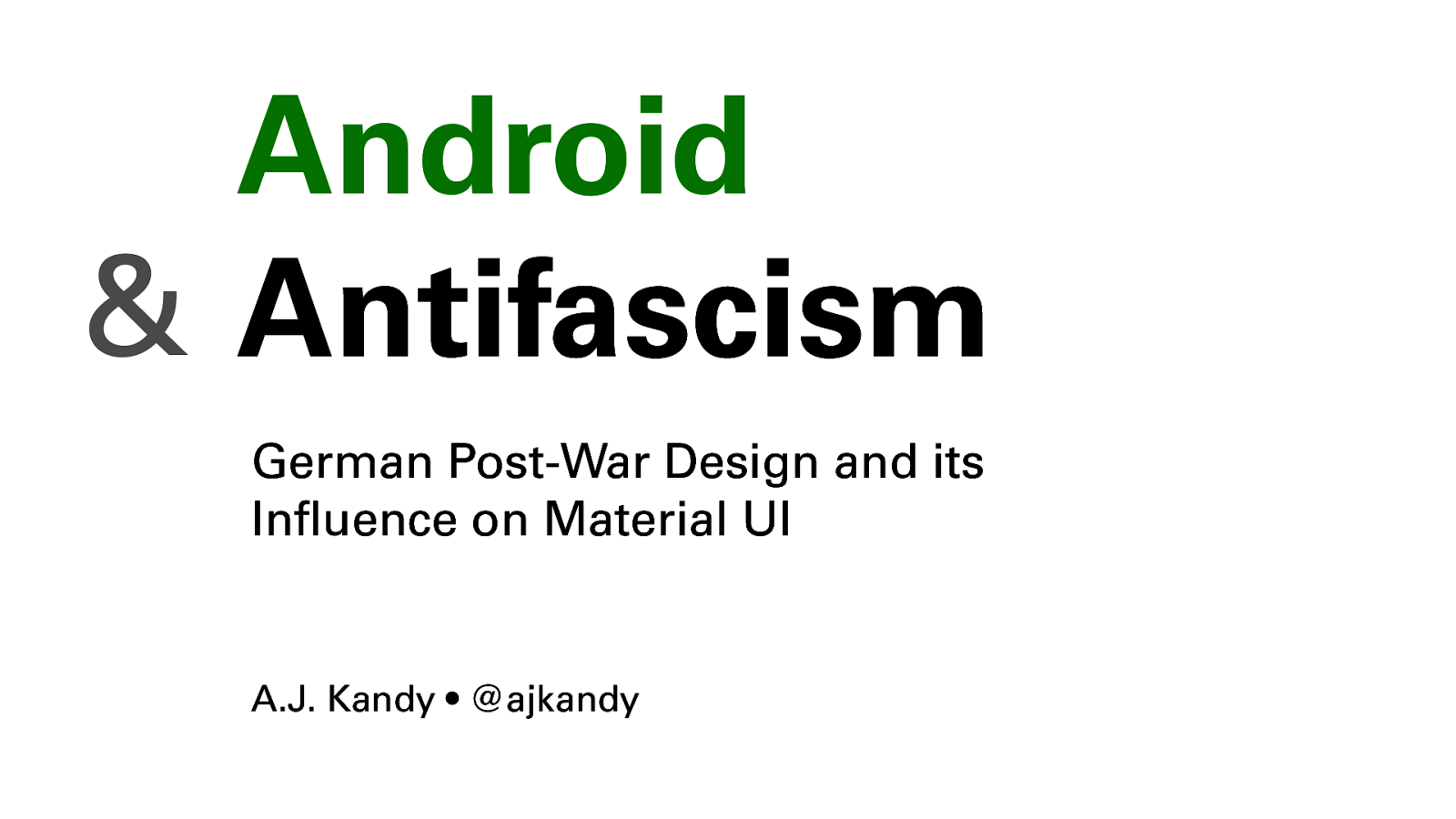 Android and Antifascism: German Postwar Design and its influence on Material UI