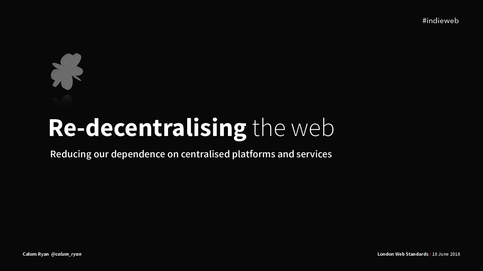 Redecentralising the web