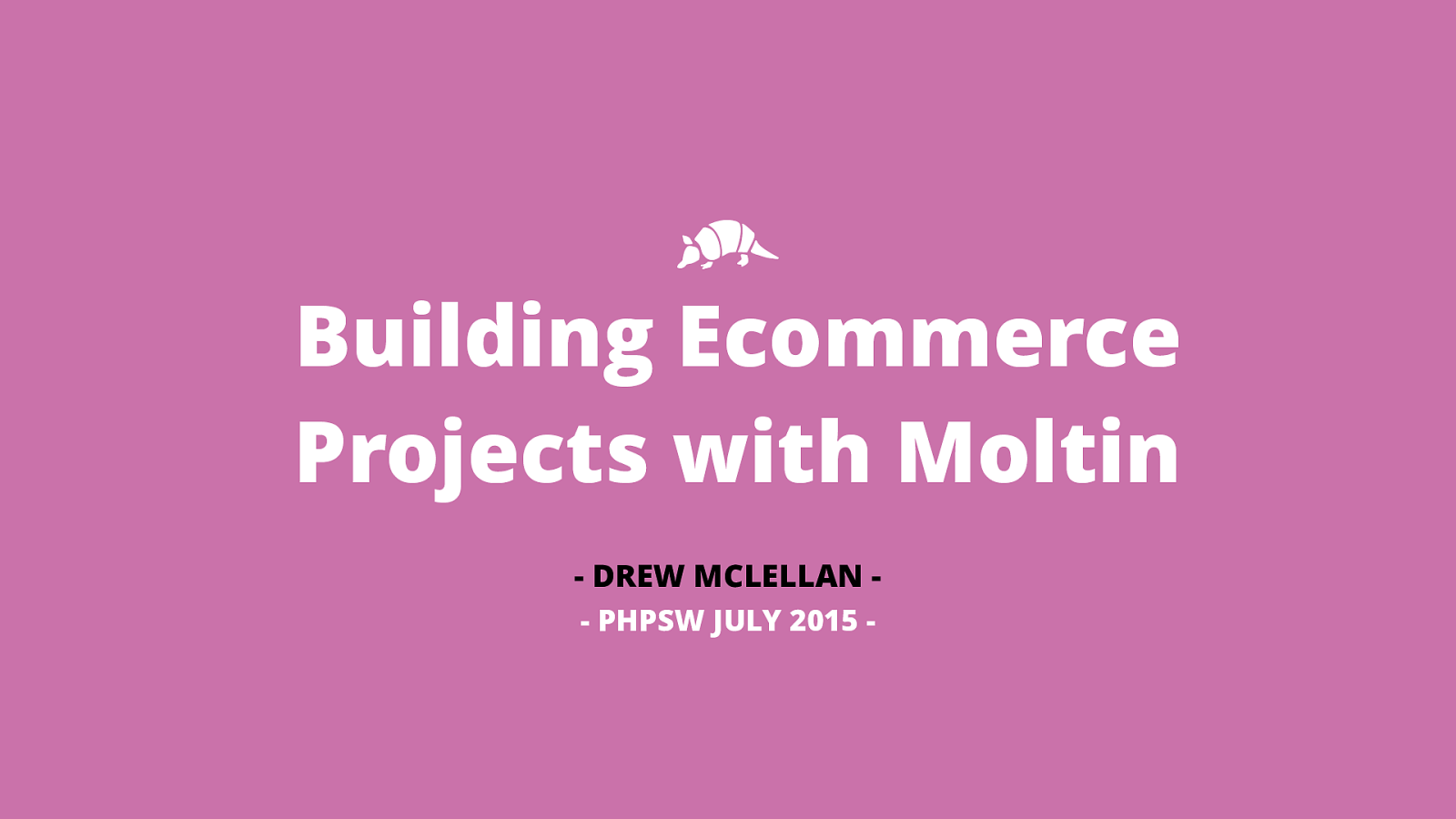 Building Ecommerce Projects with Moltin
