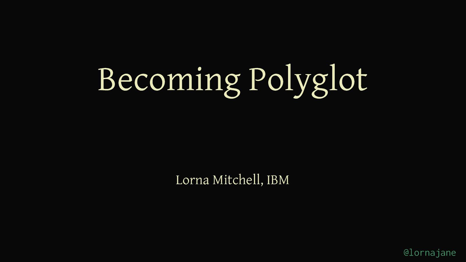 BecomingPolyglot