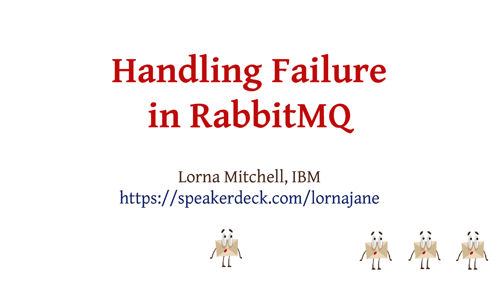 Handling Failure in RabbitMQ