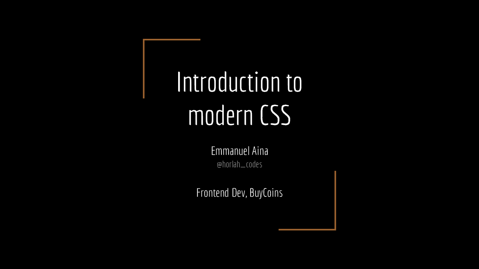 Introduction to Modern CSS