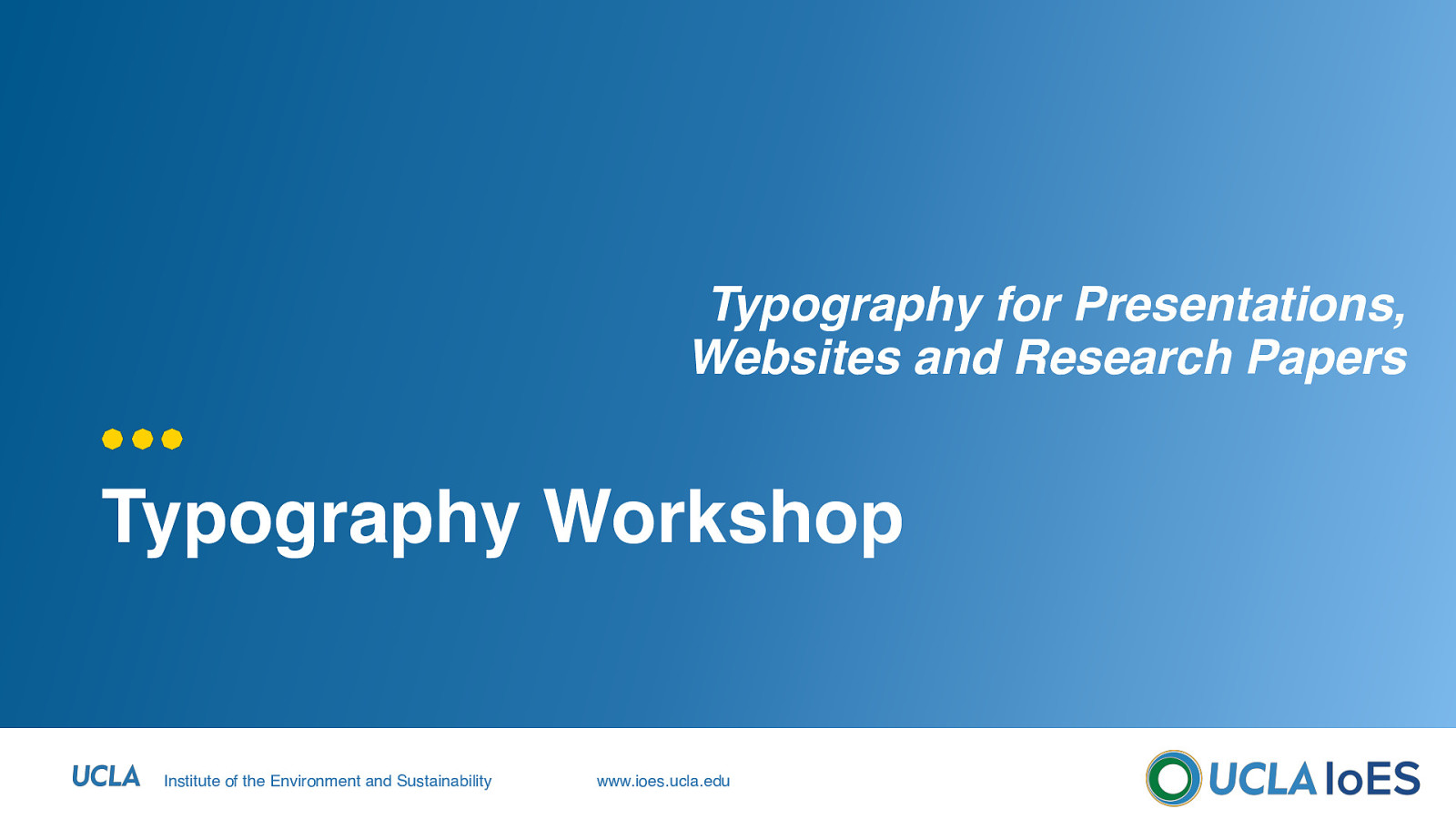 Typography for Presentations, Websites and Research Papers