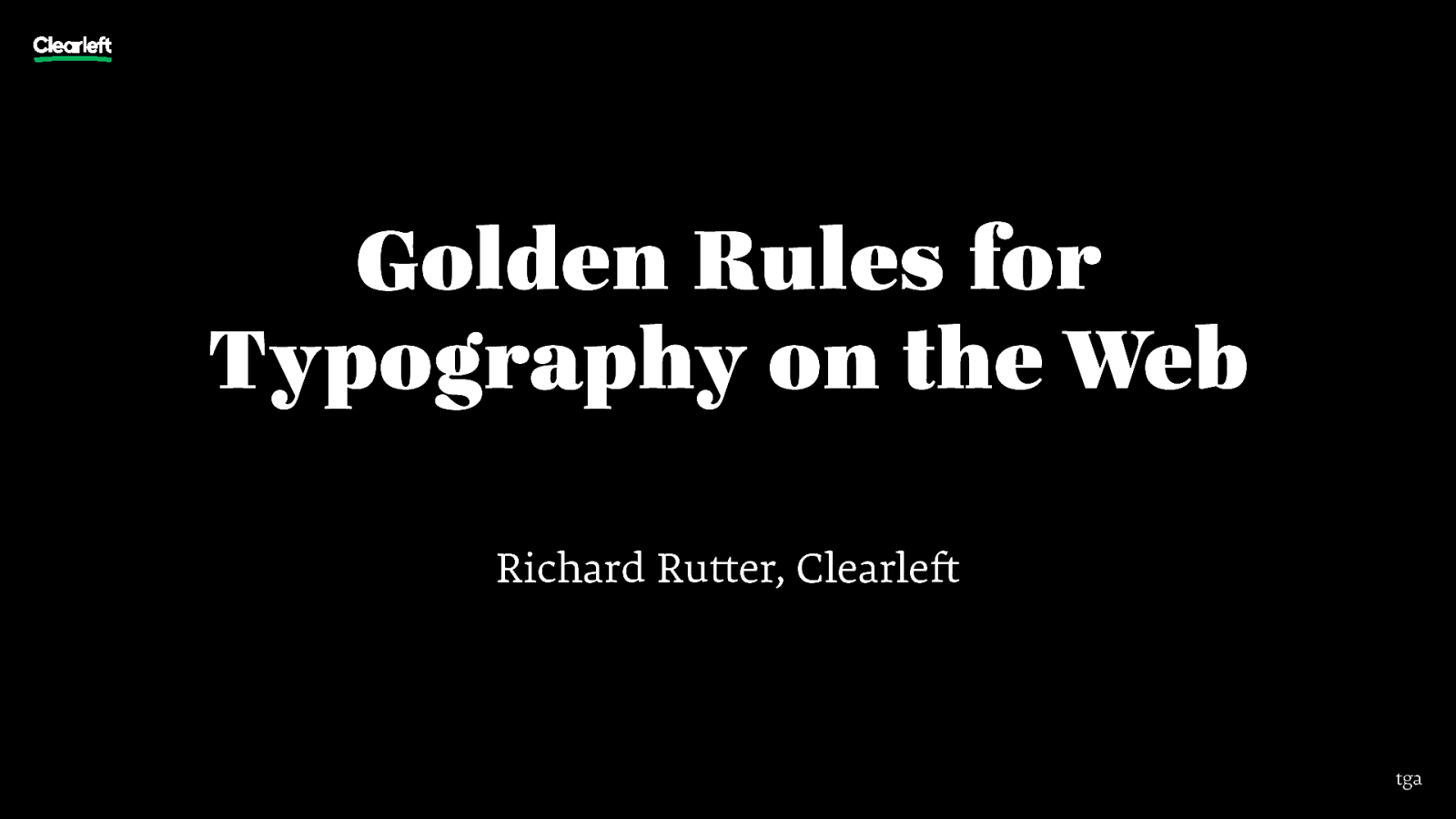 Golden Rules for Typography on the Web