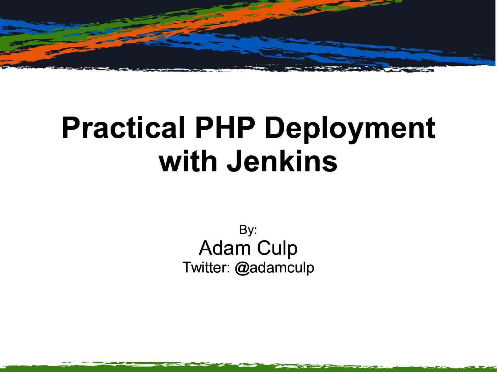 Practical PHP Deployment with Jenkins