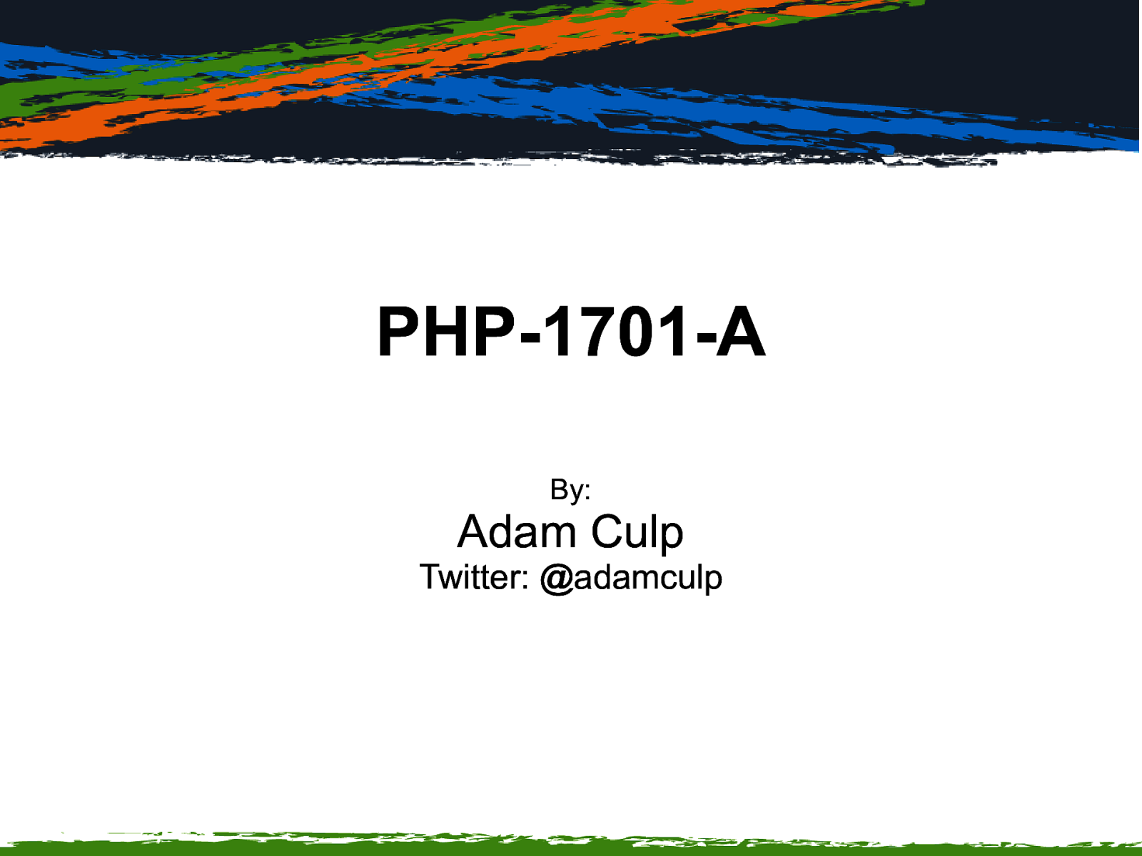 PHP-1701-A
