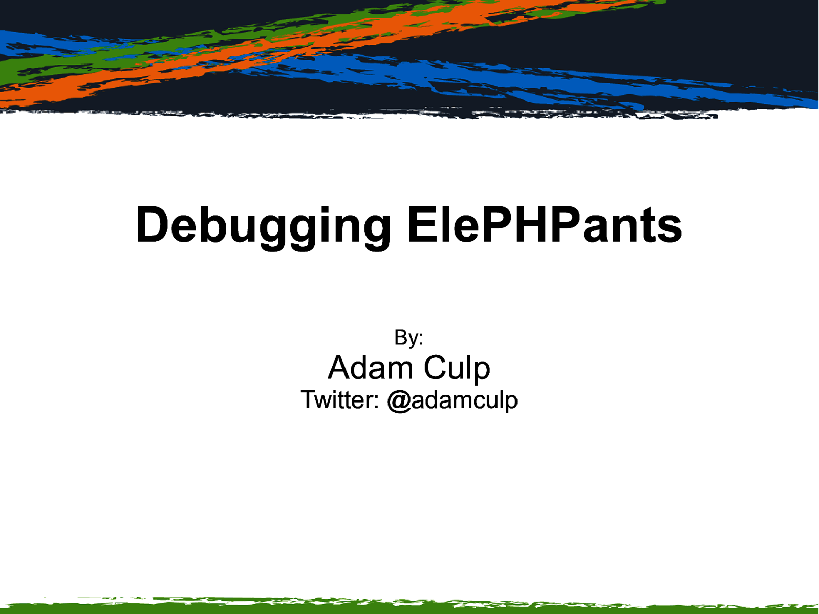 Debugging ElePHPants