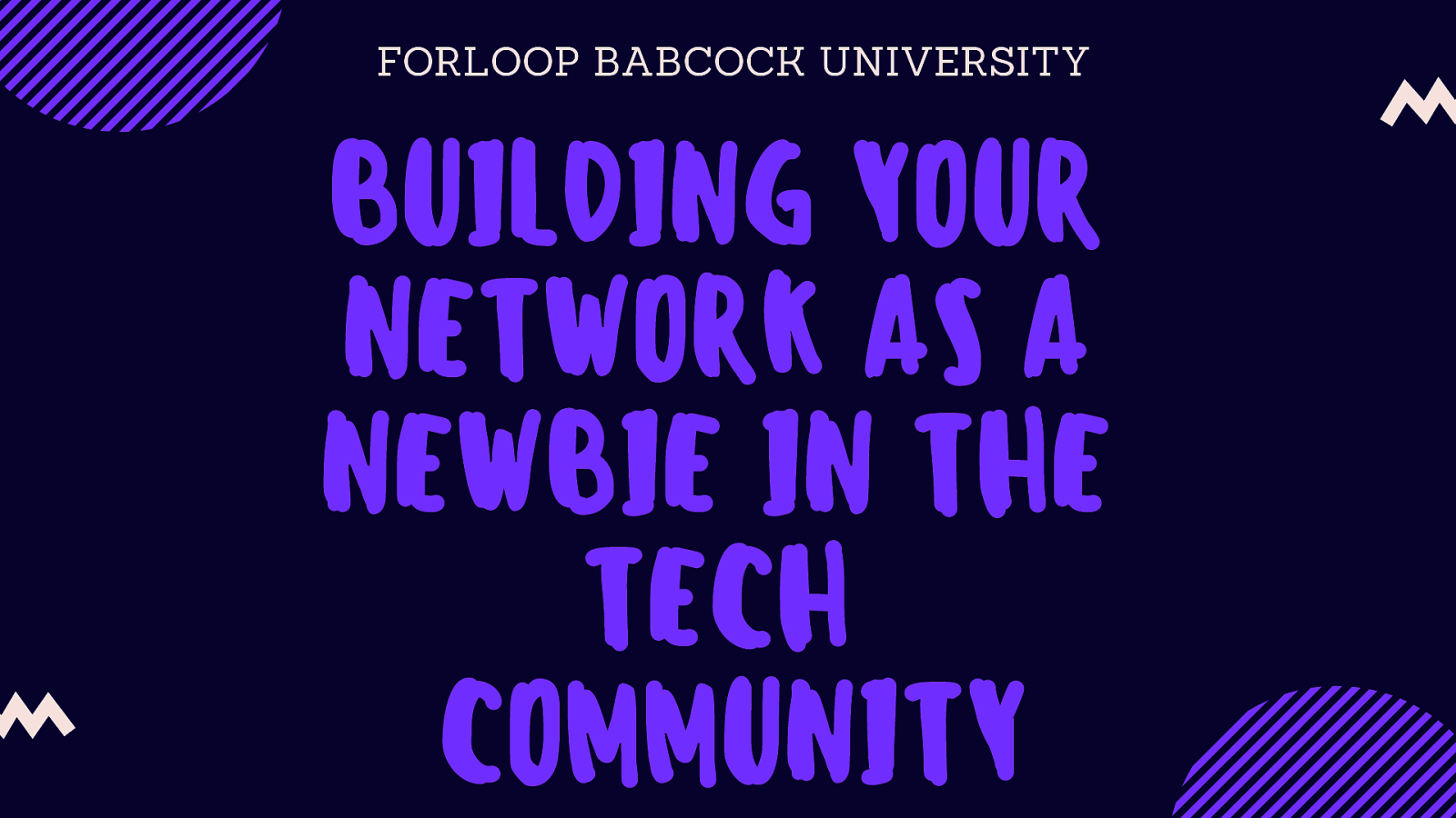 Building Your Network As A Newbie In The Tech Community