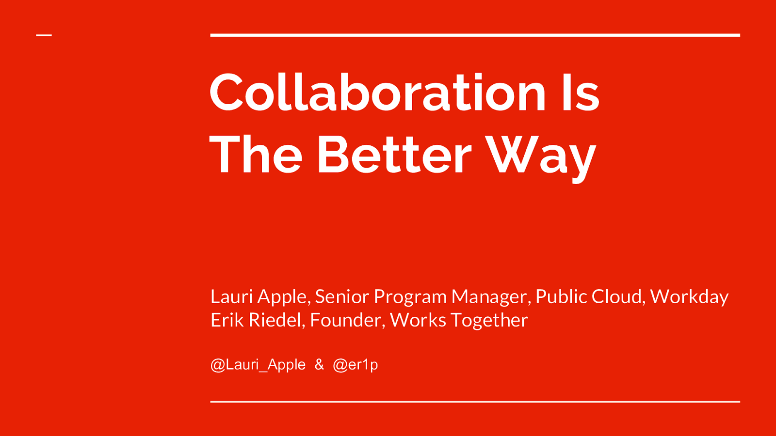 Collaboration Is The Better Way
