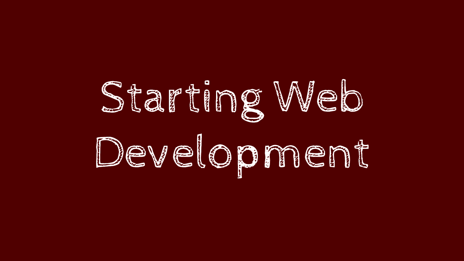 Starting web development