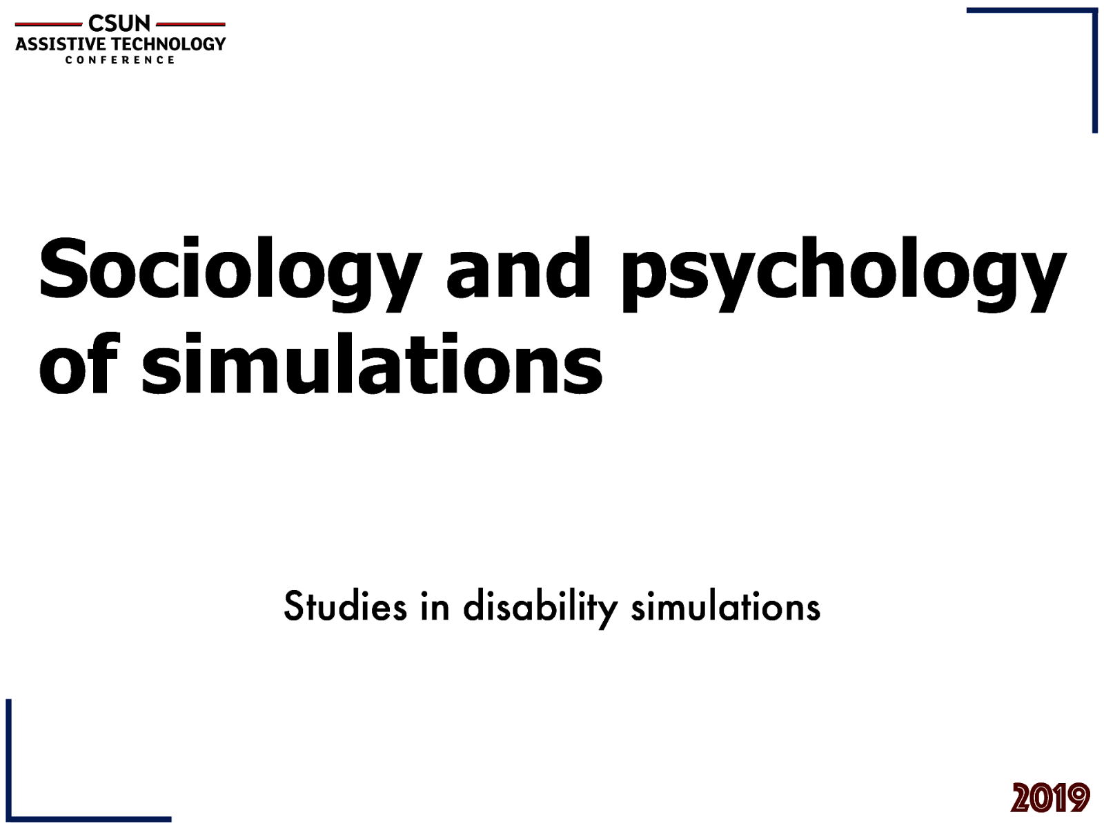 Sociology and psychology of disability simulations