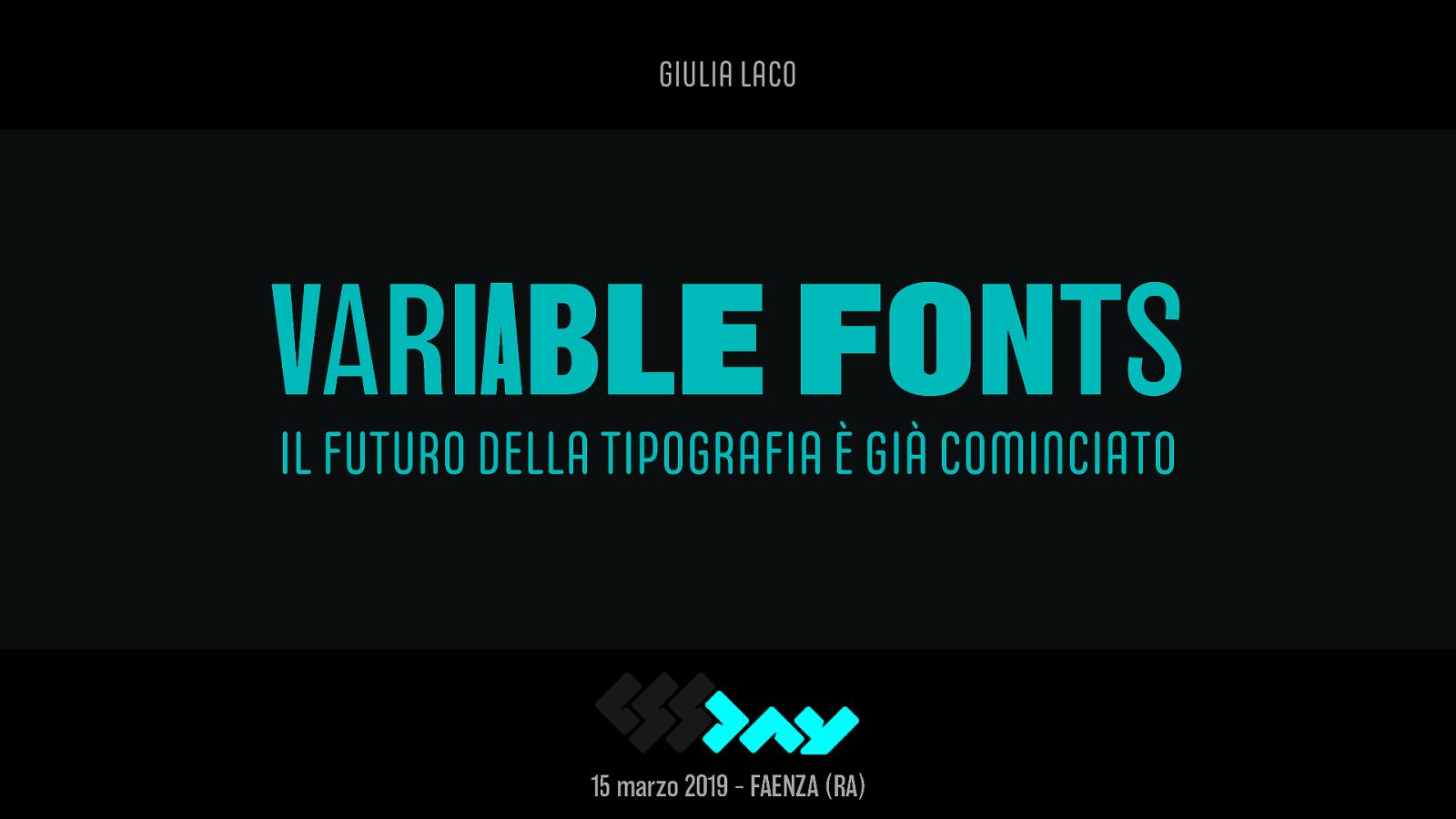 Variable Fonts: il futuro della tipografia è già cominciato