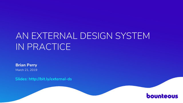 An External Design System in Practice
