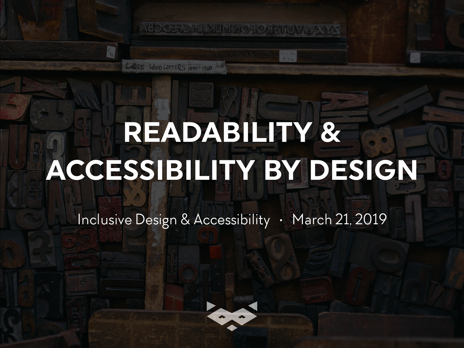 Readability & Accessibility by design