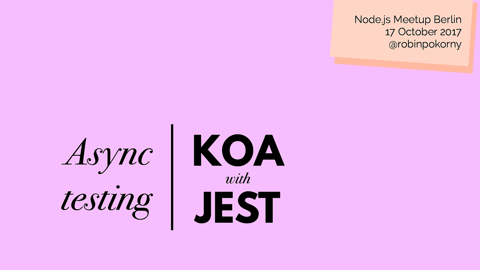Async testing Koa with Jest