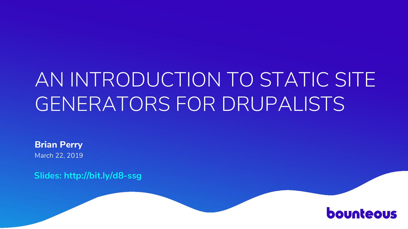 An Introduction to Static Site Generators for Drupalists