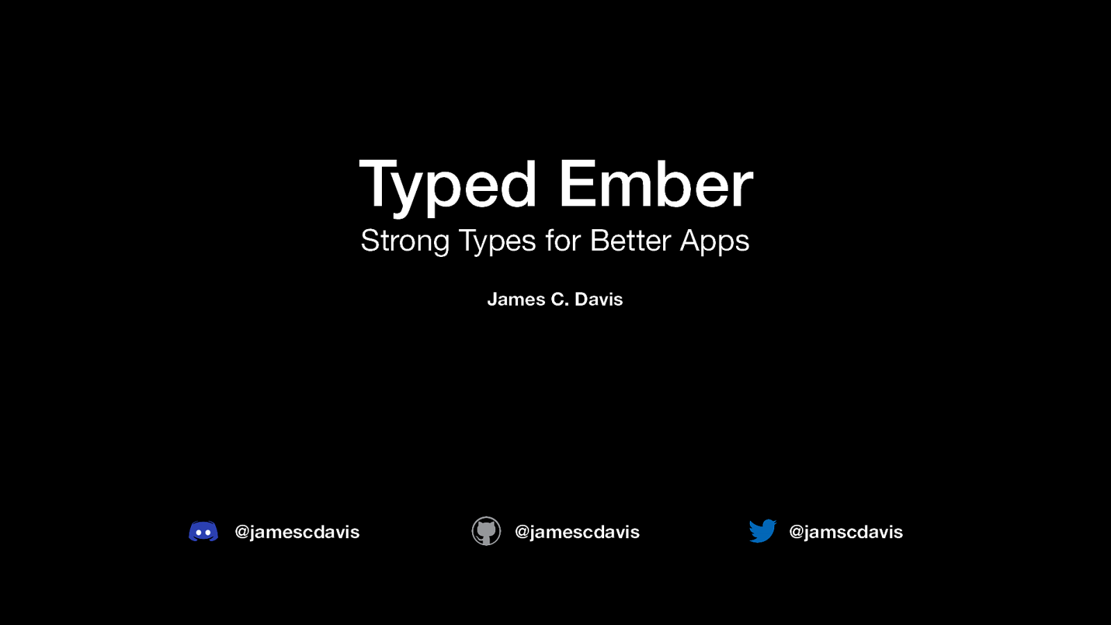 Typed Ember: Strong Types for Better Apps