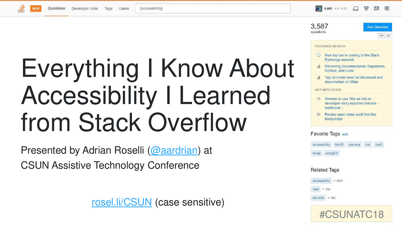 Everything I Know About Accessibility I Learned from Stack Overflow