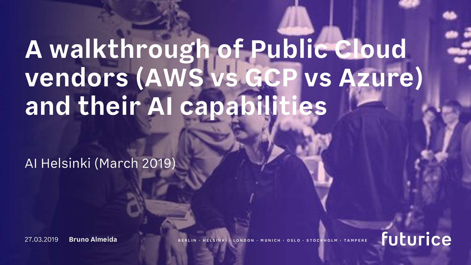 A Walkthrough of public Cloud vendors (AWS vs GCP vs Azure) and their AI Capabilities
