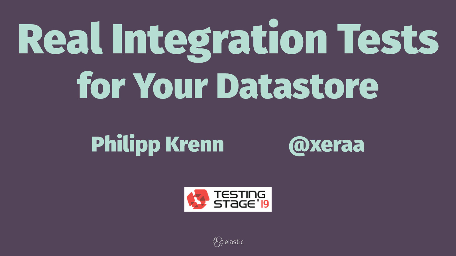 Real Integration Tests for Your Datastore