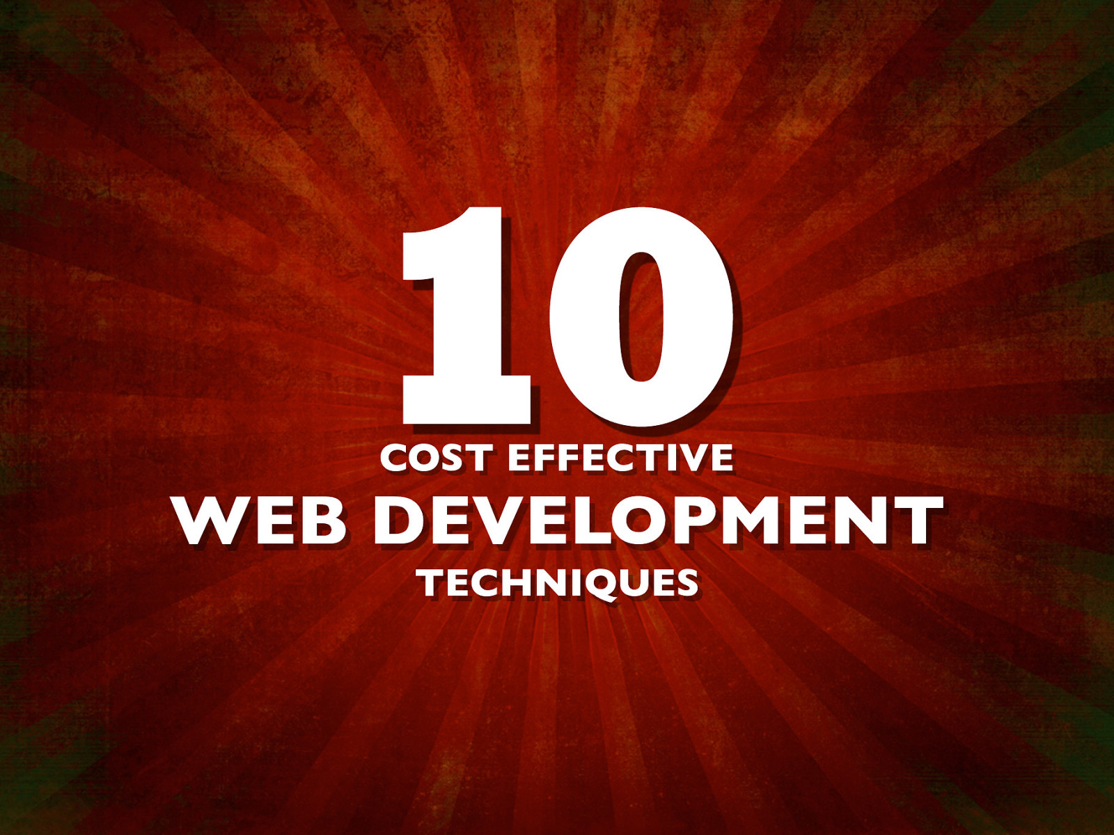 Cost Effective Web Development