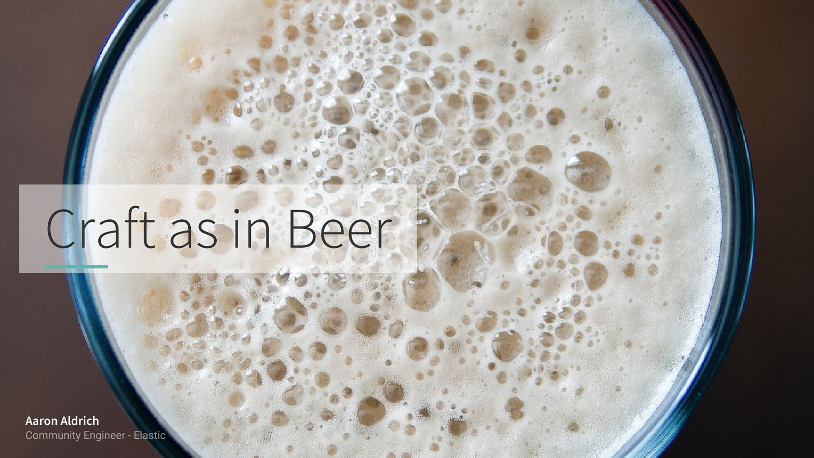Craft as in Beer: The value of community