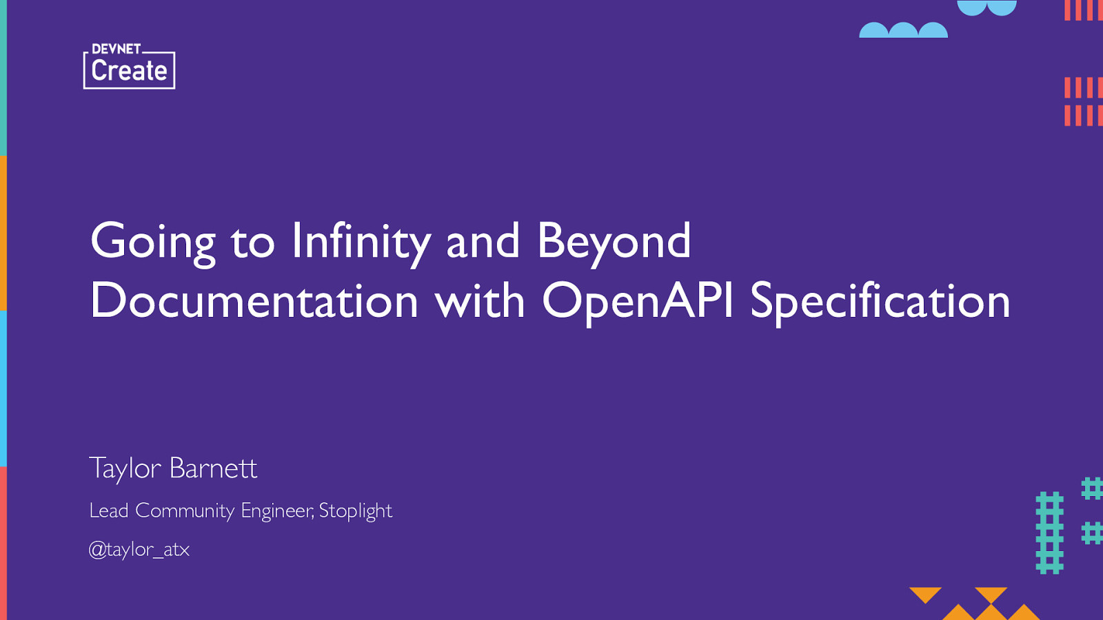 Going to Infinity and Beyond Documentation with OpenAPI (DevNet Create Edition)