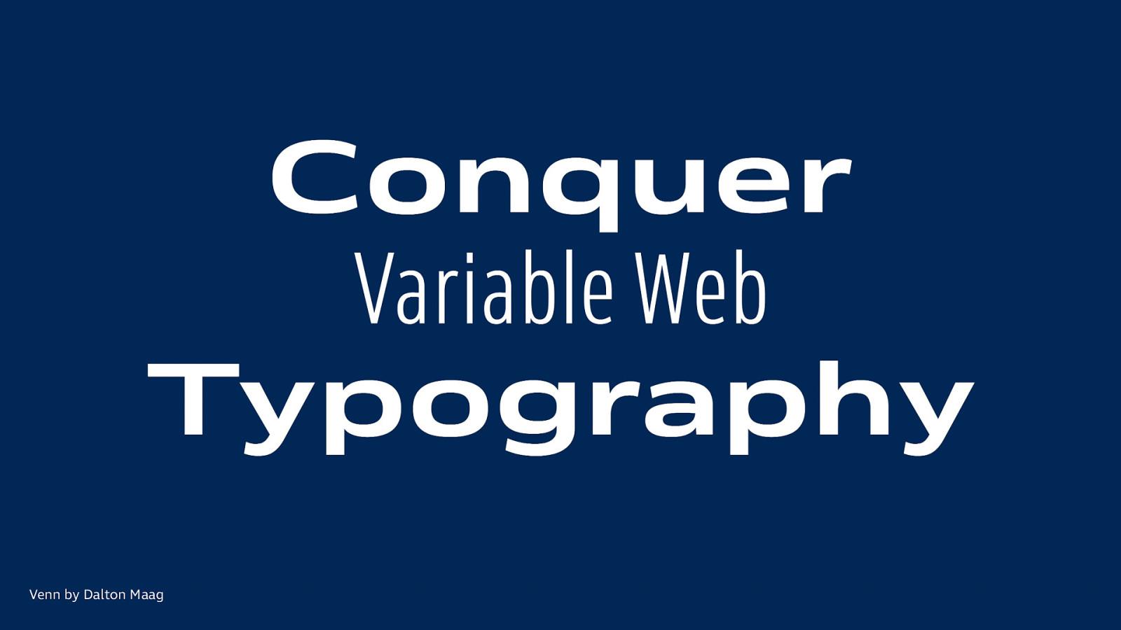 Es ist Zeit für Variable Fonts