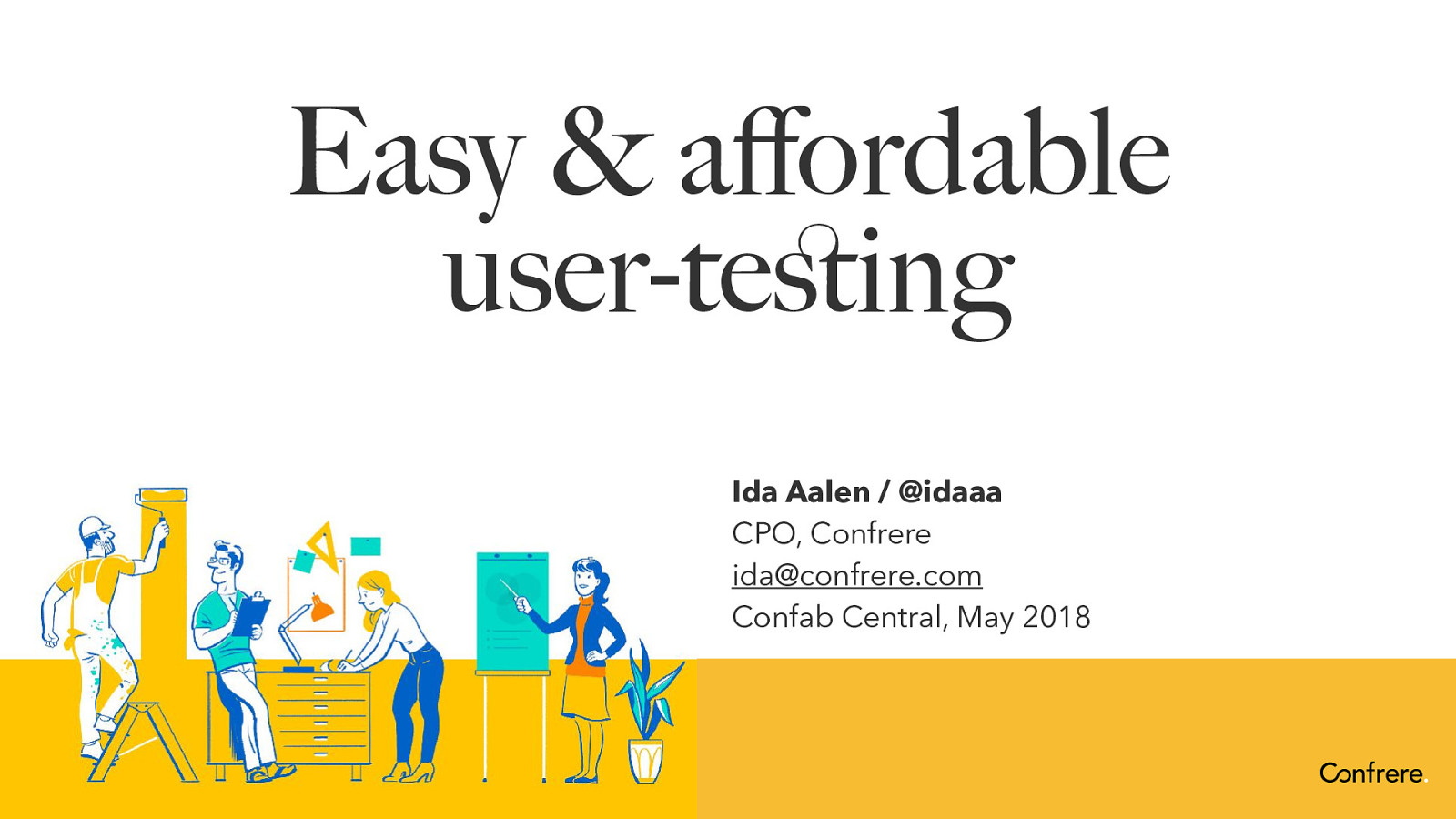 Easy and affordable user testing