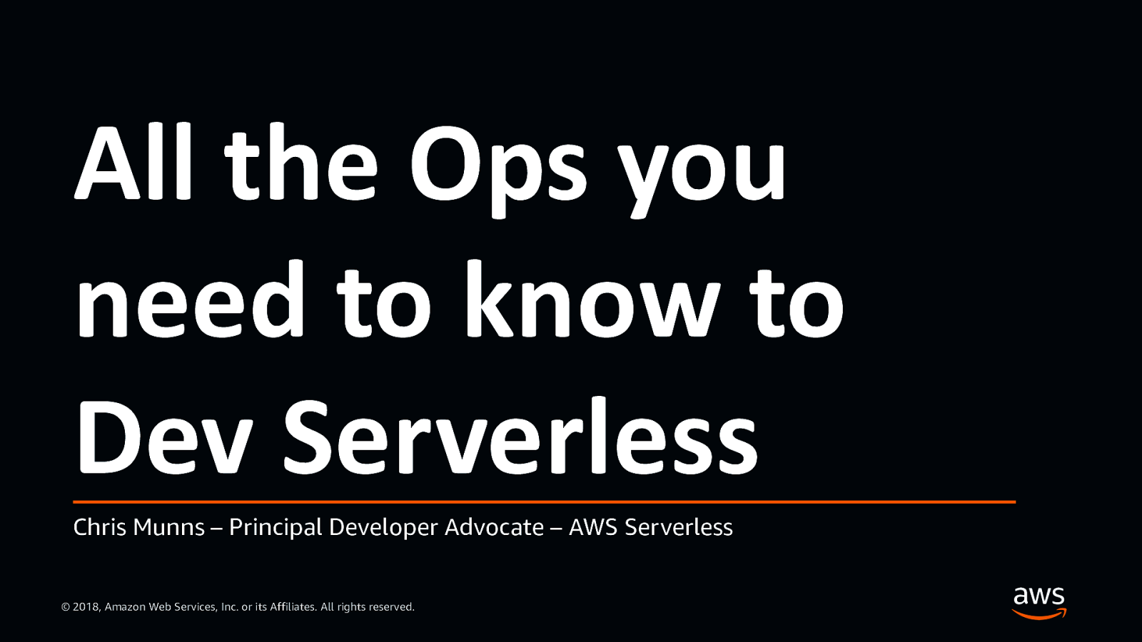 All the Ops you need to know to Dev Serverless