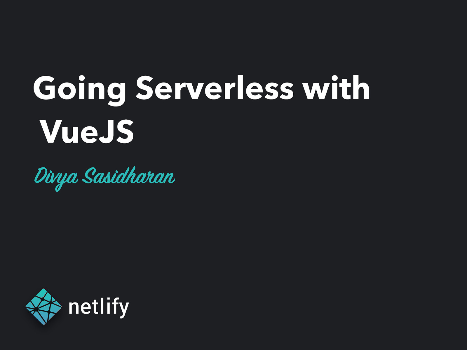 Going Serverless with VueJS