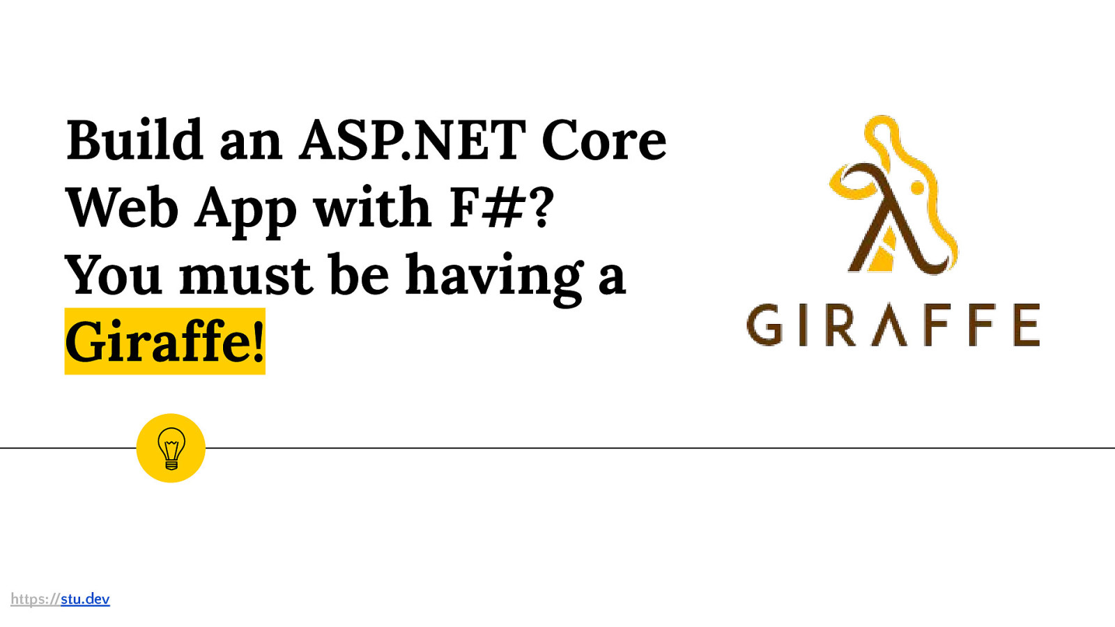 Build an ASP.NET Core Web App with F#? You must be having a Giraffe!